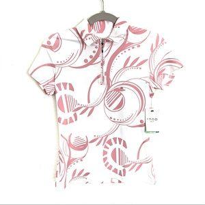 NWT Izod Golf Cool FX Petunia Polo Short Sleeve T